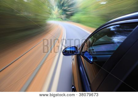 Fast driving car