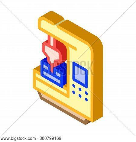 Cnc Computer Numerical Control Isometric Icon Vector Illustration