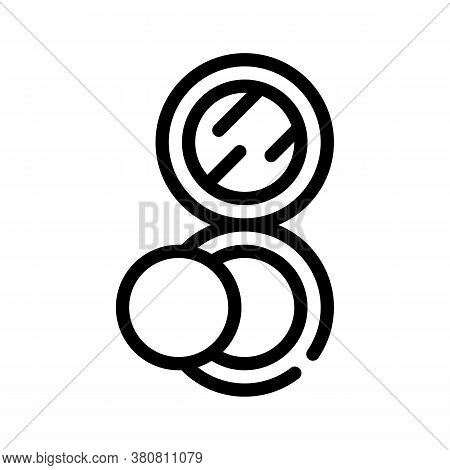 Puff Powder Line Icon Vector Illustration Isolated
