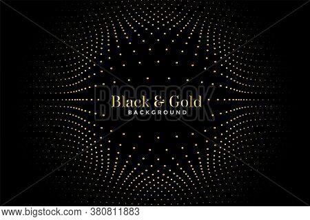 Black And Golden Halftone Pattern Background Design