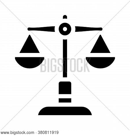 Judicial Scales Glyph Icon Vector Illustration Isolated