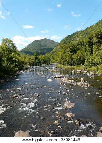 River near High Falls Gorge, Adirondacks, NY, USA
