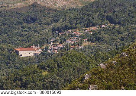 Ribeira Sacra. Santo Estevo Monastery And Village. Ourense, Galicia. Spain