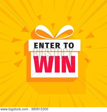 Enter To Win Background With Gift Box Design