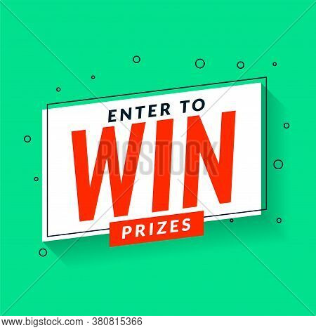 Enter To Win Prizes Template In Memphis Style Design