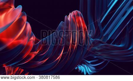 Abstract Flowing Caramel Background For Your Design Project. 3d Illustration. 3d Rendering. Abstract