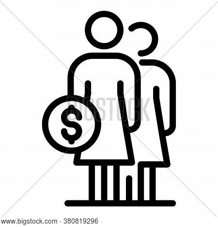 Mother Allowance Icon. Outline Mother Allowance Vector Icon For Web Design Isolated On White Backgro