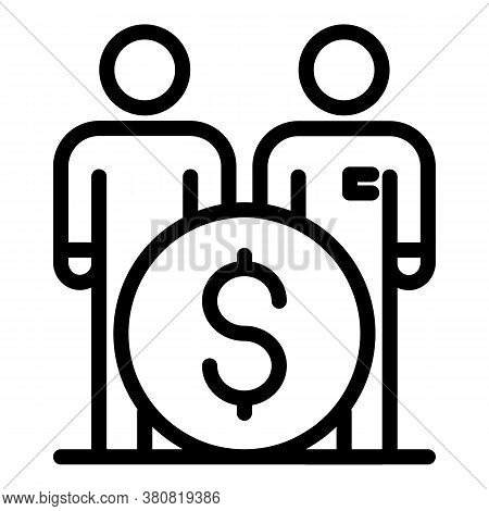 Allowance Money People Icon. Outline Allowance Money People Vector Icon For Web Design Isolated On W