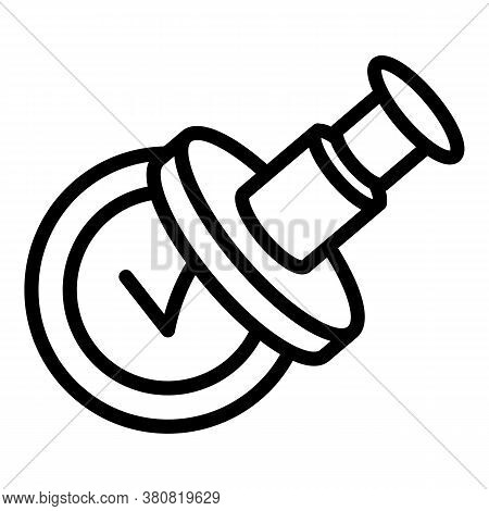 Approved Stamp Allowance Icon. Outline Approved Stamp Allowance Vector Icon For Web Design Isolated