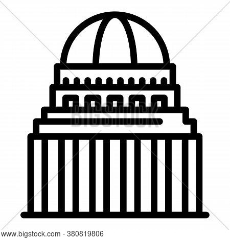 City Parliament Building Icon. Outline City Parliament Building Vector Icon For Web Design Isolated