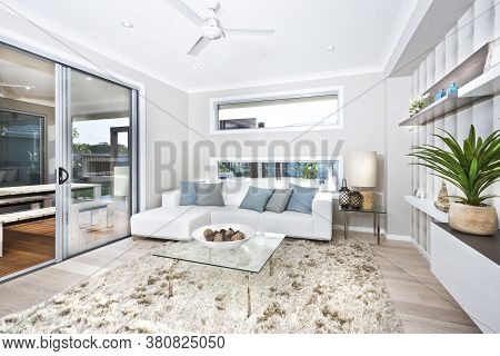 A Living Room In New Luxury Home