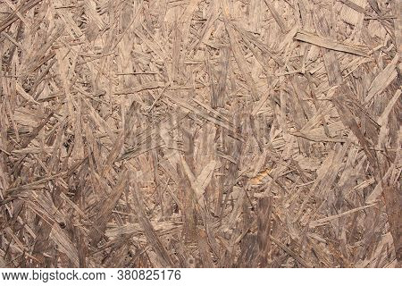 Texture Of Oriented Strand Board (osb). Versatile Waterproof Structural Wood Panel Manufactured From