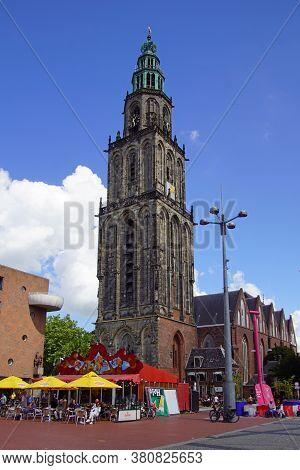 Groningen, The Netherland - July 26, 2020: The Martinikerk (martin's Church), The Oldest Church In G