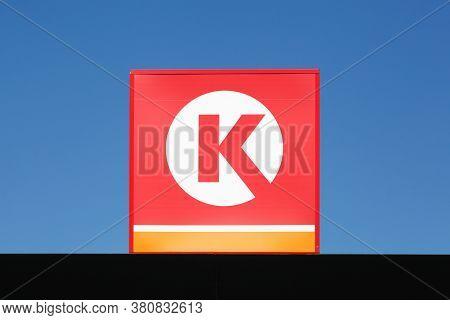 Aarhus, Denmark - April 18, 2019: Circle K Logo On Gas Station. Circle K Is An International Chain O