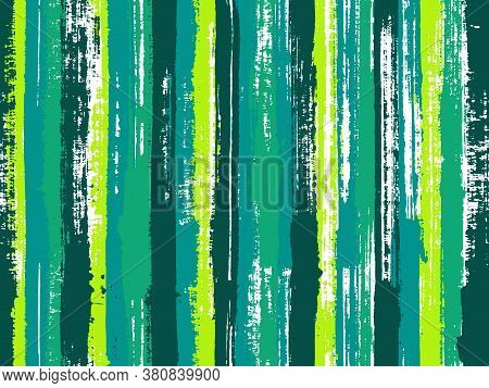 Watercolor Strips Seamless Vector Background. Striped Tablecloth Textile Print. Cute Wall Decor Orna