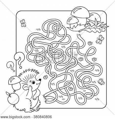 Cartoon Vector Illustration Of Education Maze Or Labyrinth Game For Preschool Children. Puzzle. Tang