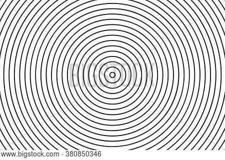 Concentric Circle Texture. Linear Background. Vector Illustration.