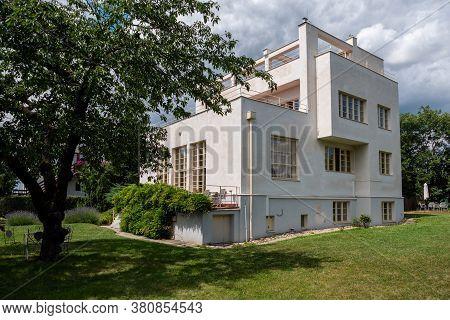 Prague, Czech Republic - July 12 2020: Villa Winternitz, A Modernist And Functionalist Residential B
