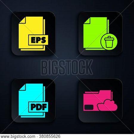 Set Cloud Storage Text Document Folder, Eps File Document, Pdf File Document And Delete File Documen