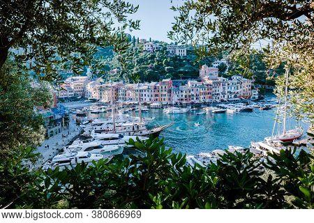 Portofino Famous Village Bay, Italy Colorful Village Ligurian Coast