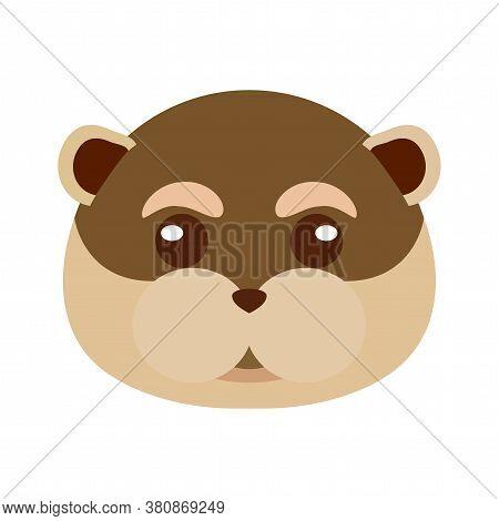 Mole Head Cartoon. Animal Cartoon Icon - Vector