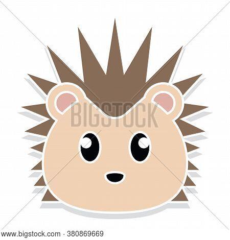 Porcupine Head Cartoon. Animal Cartoon Icon - Vector