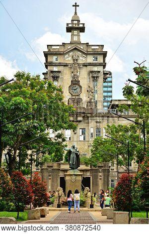 Manila, Ph - June 2 - University Of Santo Tomas Main Building Facade On June 2, 2018 In Manila, Phil