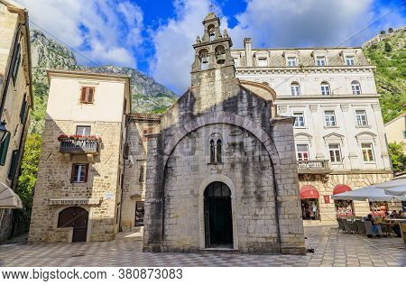 Kotor, Montenegro - May 30, 2019: Church Of Saint Luke Constructed In 1195 As A Catholic Church Late