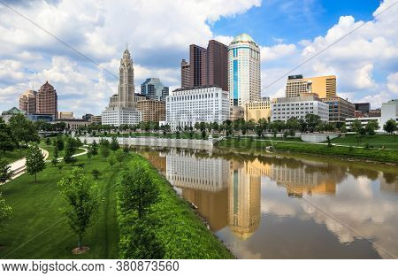 COLUMBUS, OHIO - MAY 27,2018: Columbus city is capital of Ohio state and second largest metropolitan in Ohio state.
