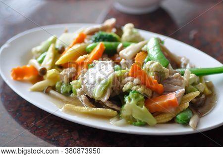 Stir Fried Vegetable With Pork, Stir Fried Vegetable