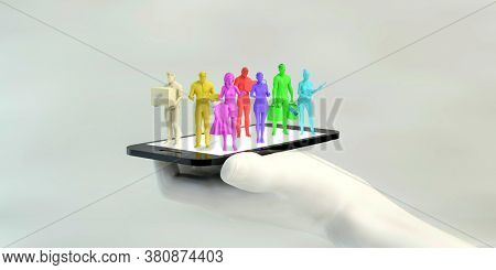 Gig Economy Workers Joining the Online Workforce 3d Render