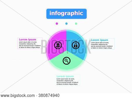 Infographics Design Template Icon Account, Key, And Lock. Planning Presentation Business Infographic