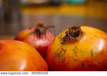 Close View Of Pomegranate Fruit Rich In Anti Oxidants