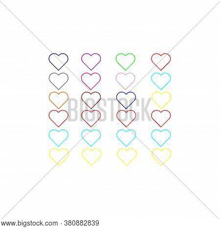 Hearts Pattern. Love Pattern Vector. Valentine's Day Decor Pattern. Love Hearts Geometric Seamless P