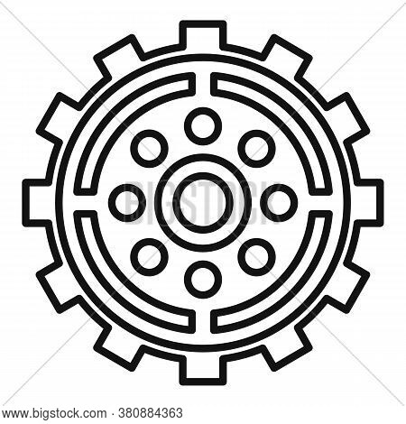 Broken Watch Cog Wheel Icon. Outline Broken Watch Cog Wheel Vector Icon For Web Design Isolated On W