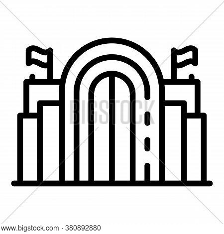 Architecture Parliament Icon. Outline Architecture Parliament Vector Icon For Web Design Isolated On