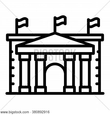 Bucharest Parliament Icon. Outline Bucharest Parliament Vector Icon For Web Design Isolated On White
