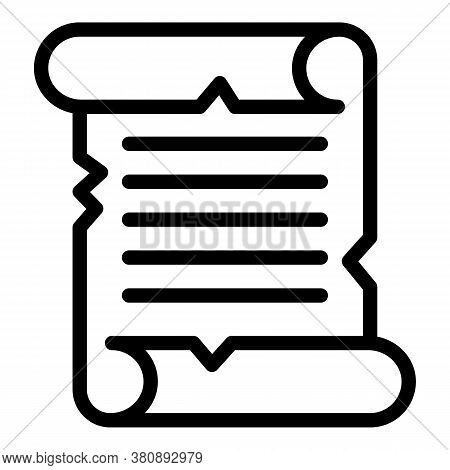 Travel Papyrus Icon. Outline Travel Papyrus Vector Icon For Web Design Isolated On White Background