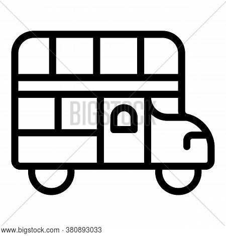 Sightseeing City Bus Icon. Outline Sightseeing City Bus Vector Icon For Web Design Isolated On White
