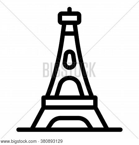 Eiffel Tower Icon. Outline Eiffel Tower Vector Icon For Web Design Isolated On White Background