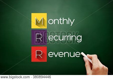 Mrr - Monthly Recurring Revenue Acronym, Business Concept Background On Blackboard