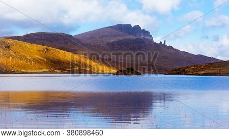 Landscape Of Loch Fadawith The Old Man Of Storr