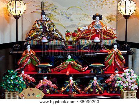 Japanese Hina doll that displayed for Hina Matsuri festival