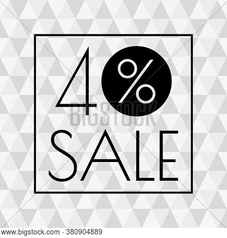 40% Sale Icon. Discount Banner With 40 Percent Price Off. Vector Illustration.