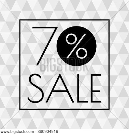 70% Sale Icon. Discount Banner With 70 Percent Price Off. Vector Illustration.