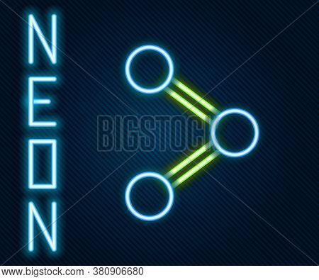 Glowing Neon Line Share Icon Isolated On Black Background. Share, Sharing, Communication Pictogram,