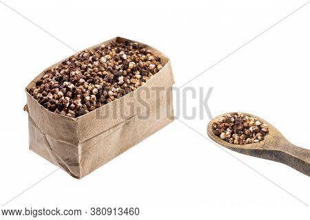 Chenopodium Quinoa - Chocolate Quinoa Seeds. Text Space