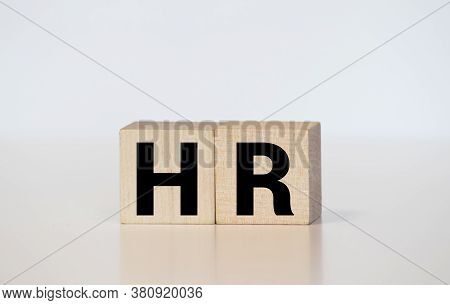 Word Hr. Wooden Cube Block Building The Word Hr