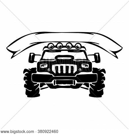 Off-road Element - Silhouette Logoracing 4x4 Car Club Emblems, Labels And Badges.