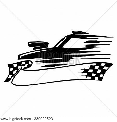 Racing Graphic For Car - Automobile Engine Motorsport Race Racer Driver Champion Racecar Silhouette